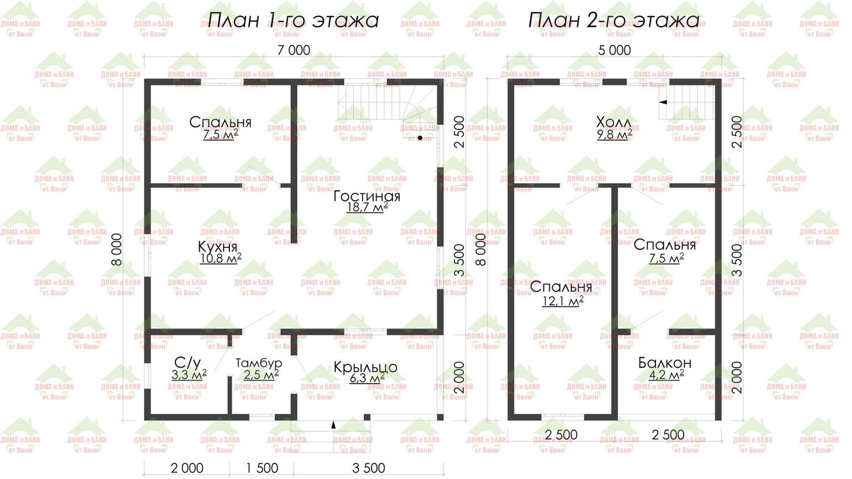 Схема обычного дома из пеноблоков